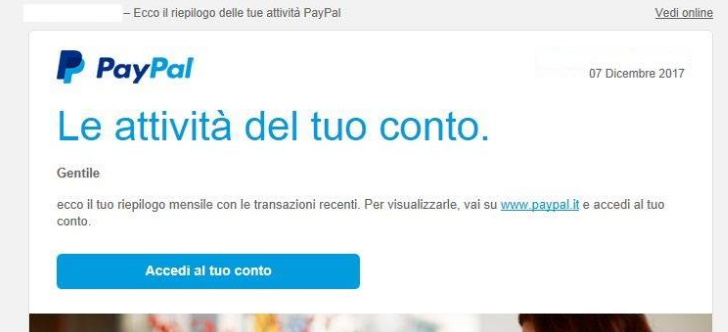 Attenzione: phishing PayPal via mail! -